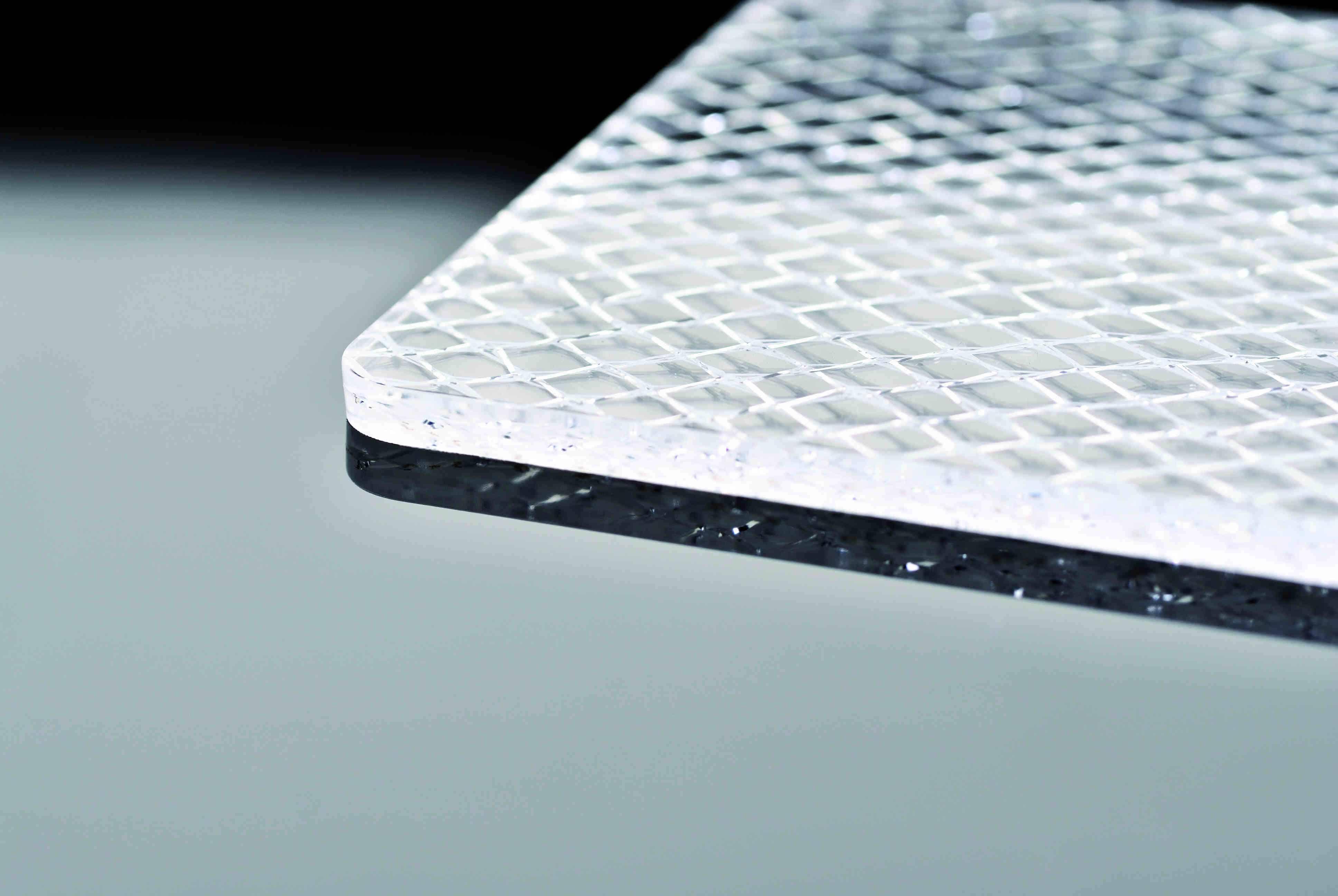 Lastra Plexiglass Tessuto Inglobato