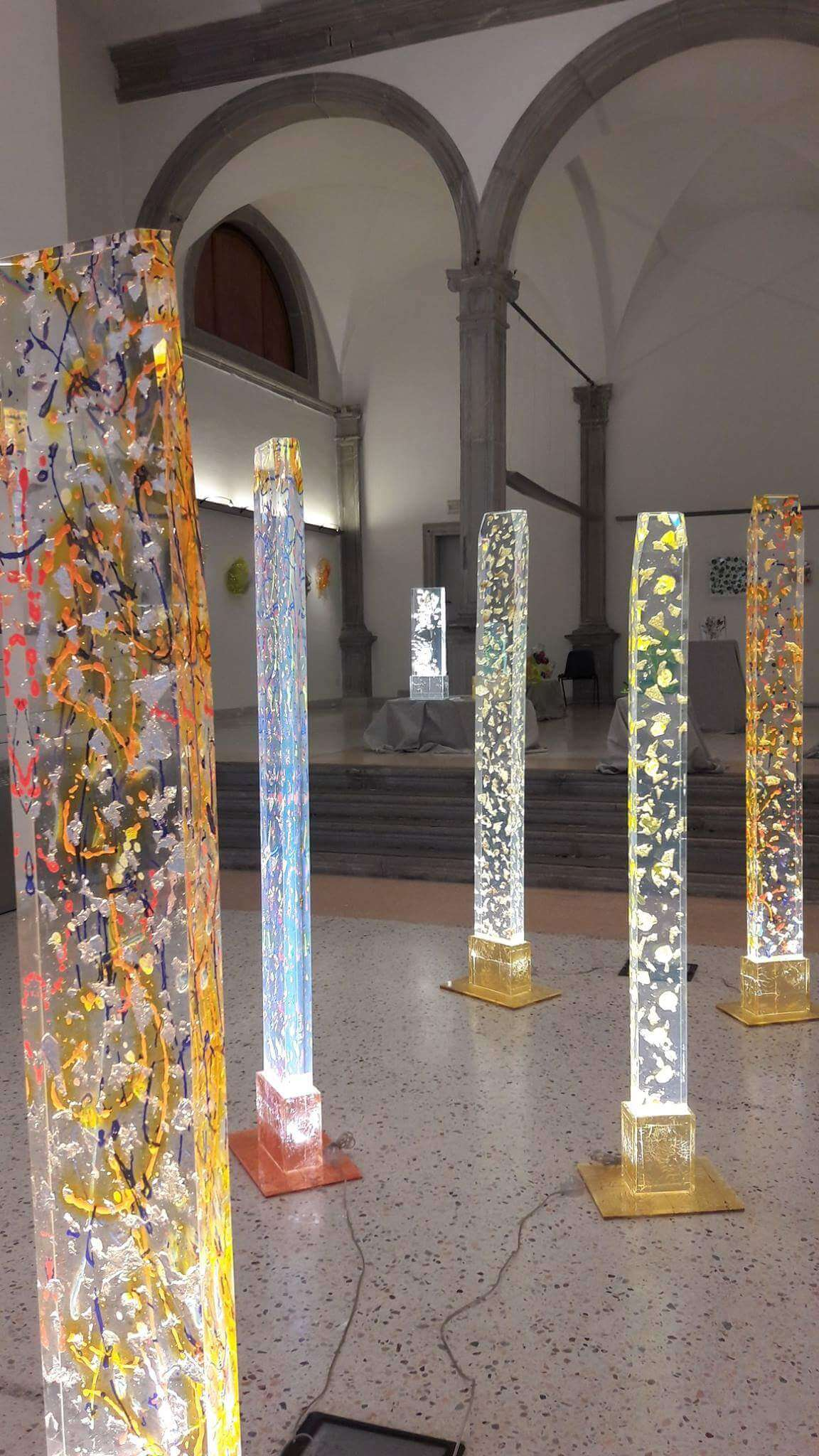 Colonne Luminose in Plexiglass